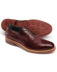 Dark red Tavistock wingtip brogue shoes