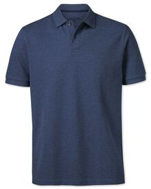 Classic fit Indigo pique polo shirt