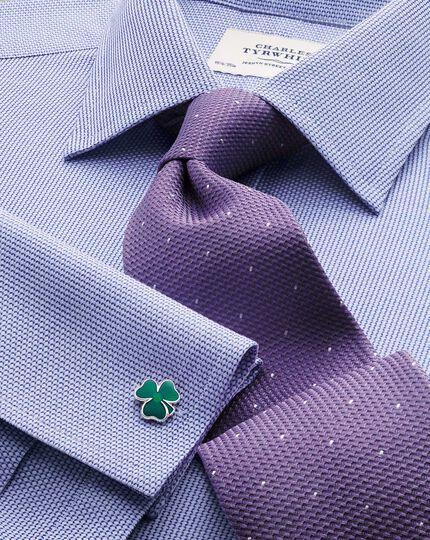 Slim fit Egyptian cotton diamond texture mid blue shirt