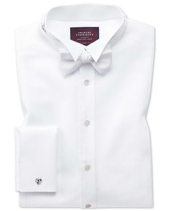 Slim fit wing collar luxury marcella white evening shirt