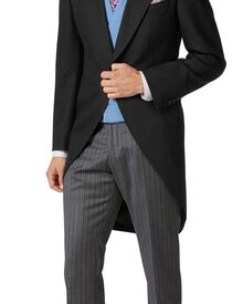 Black classic fit morning suit