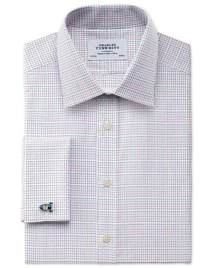 Classic fit dobby Jermyn Street check shirt