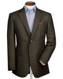 Slim fit olive birdseye lambswool jacket