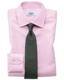 Slim fit non iron puppytooth light pink shirt