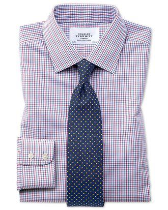 Classic fit non-iron multi grid check shirt