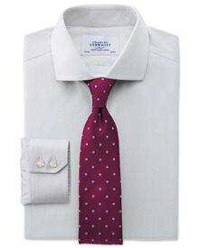 Extra slim fit cutaway collar non-iron mouline stripe grey shirt