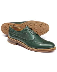 Eastcott Budapester Derby-Schuh mit Flügelkappen in grün