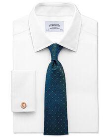 Slim fit Egyptian cotton diamond texture white shirt