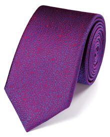 Slim magenta silk floral classic tie