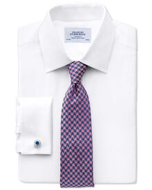 Extra slim fit Pima cotton double-faced white shirt
