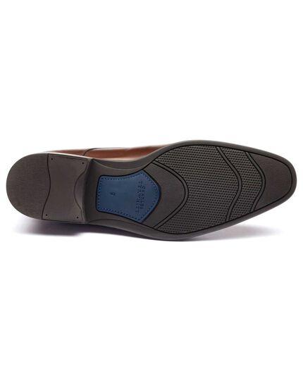 Brown Duston toe cap Derby shoes