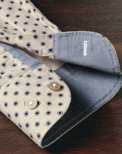 Classic fit stone spot print shirt