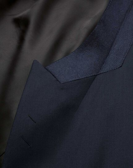 Navy slim fit dinner suit jacket