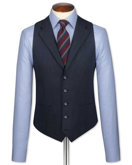 Indigo saxony business suit vest