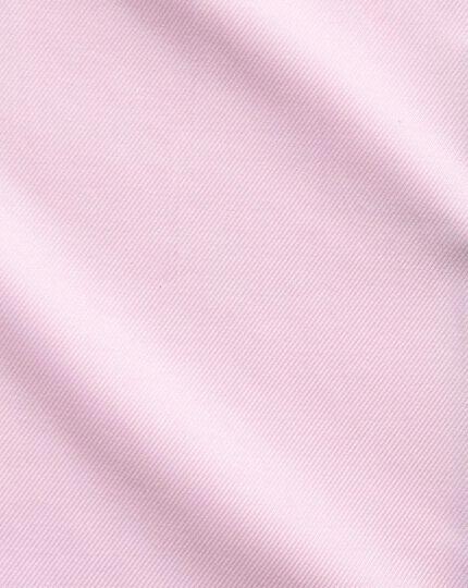 Slim Fit Kavallerie-Twill Hemd aus ägyptischer Baumwolle in Hellrosa
