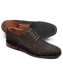 Padstow Derby-Schuh aus Veloursleder in grau