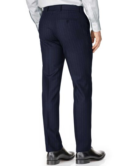Navy slim fit saxony business suit pants
