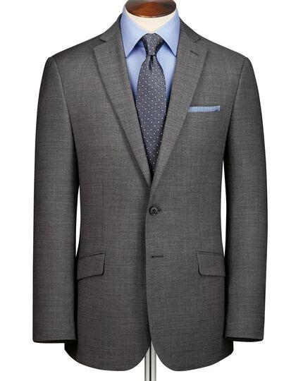 Grey classic fit sharkskin business suit jacket