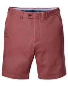 Slim Fit Chino-Shorts in hellrot