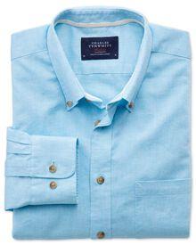 Classic fit aqua blue shirt