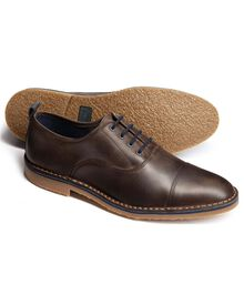 Brown Westbourne toe cap Oxford shoes