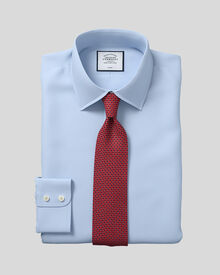 Extra slim fit non-iron twill sky shirt