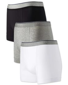 White multi jersey 3 pack trunks
