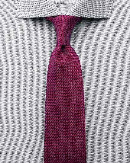 Extra slim fit spread collar non-iron grey shirt