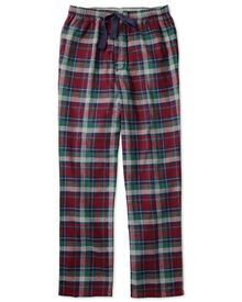 Burgundy check cotton pajama pants