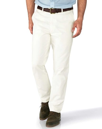 Chalk slim fit flat front chinos