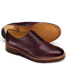 Burgunday Fenton wingtip brogue shoes