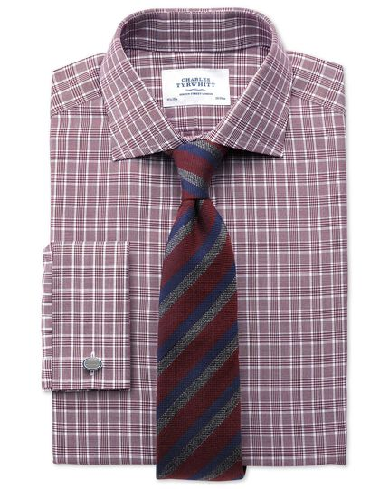 Classic fit Prince of Wales berry shirt
