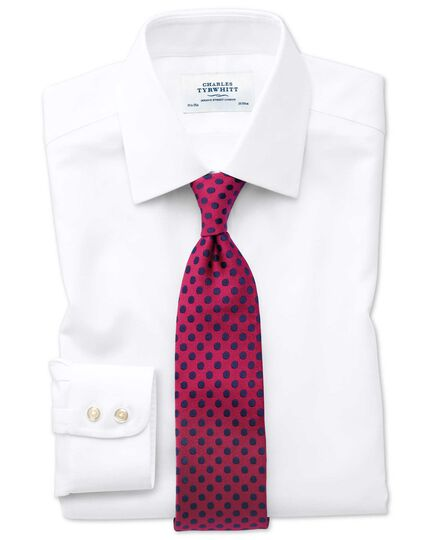 Extra slim fit non-iron square weave white shirt