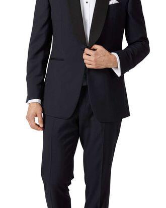 Navy slim fit shawl collar tuxedo suit