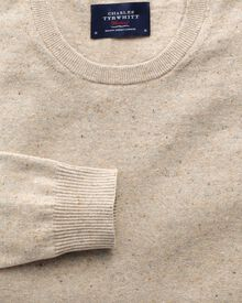 Stone cotton cashmere crew neck jumper