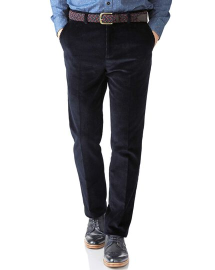Navy extra slim fit jumbo cord trouser