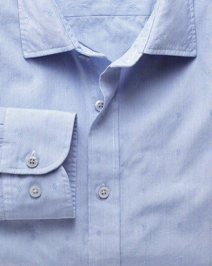 Classic fit sky blue poplin dobby shirt