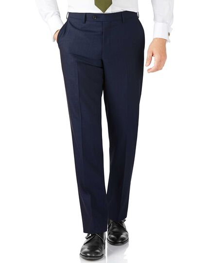 Blue stripe classic fit Panama business suit trouser