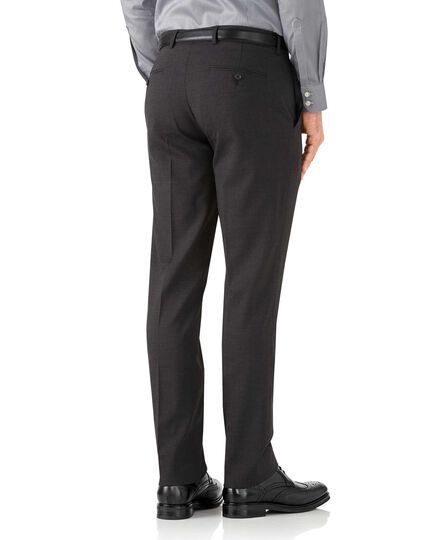 Charcoal slim fit performance suit trousers