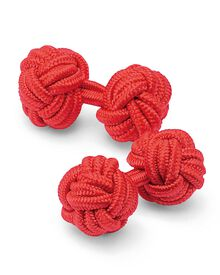 Red Silk Knot Cuff Links Only $10.00