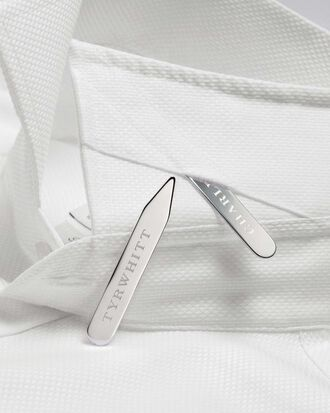 Silver-plated collar stays