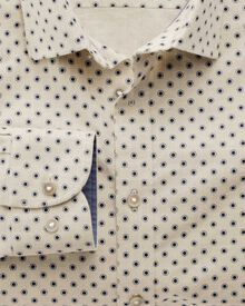 Slim fit stone spot print shirt