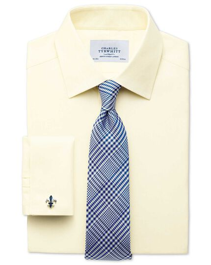 Classic fit Egyptian cotton cavalry twill yellow shirt