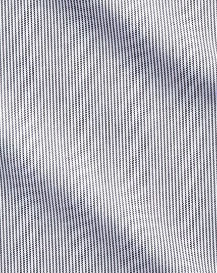 Extra slim fit cutaway non-iron fine stripe charcoal shirt