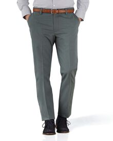Bügelfreie Extra Slim Fit Chino Hose ohne Bundfalte in Grau