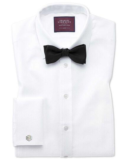Black silk barathea self-tie bow tie