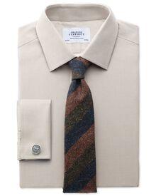 Extra slim fit Oxford stone shirt