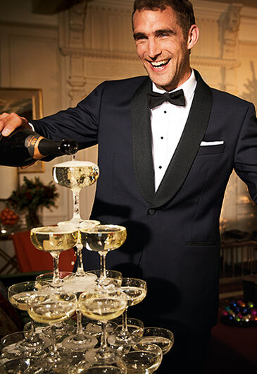 Champagne and tuxedos