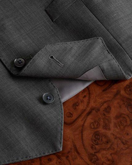 Grey sharkskin travel suit waistcoat