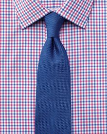 Classic fit Egyptian cotton Jermyn St check red and blue shirt